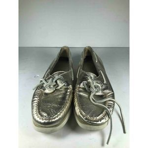 Sperry Womens Boat Shoes Gold Size 8B